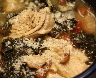 Chicken, Bean and Kale soup
