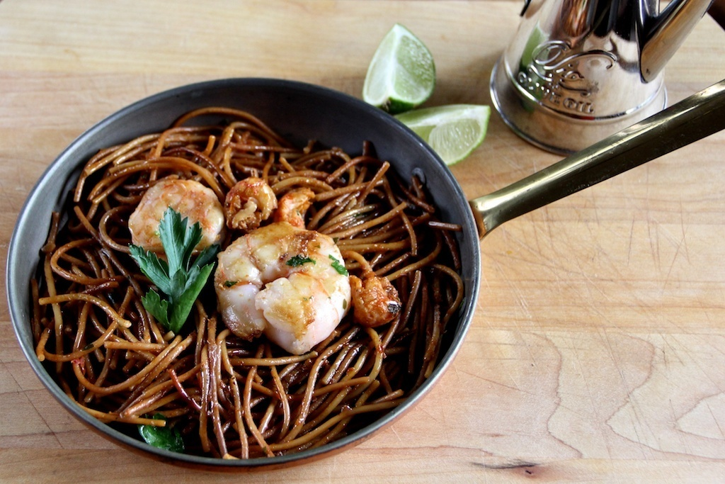 Fideua - Toasted Spaghetti with Seafood