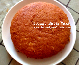 Spongy Dates Cake Recipe