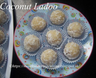 Coconut Ladoo Recipe -- How to make Coconut Ladoo with Condensed Milk Recipe