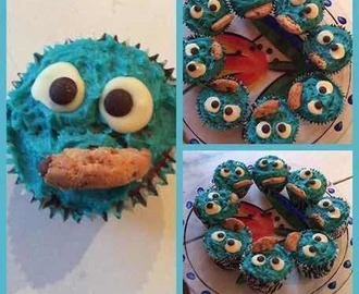 Cookie monster ( cupcakes)