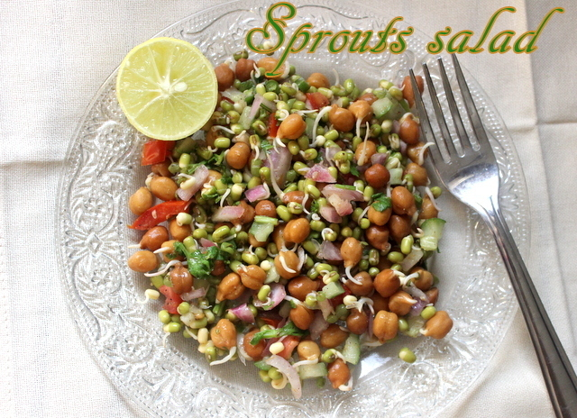 Moong sprouts salad recipe – How to make healthy moong sprouts salad recipe – healthy recipes