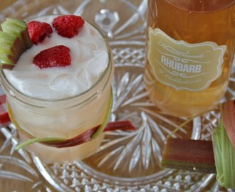Rhubarb Raspberry Punch