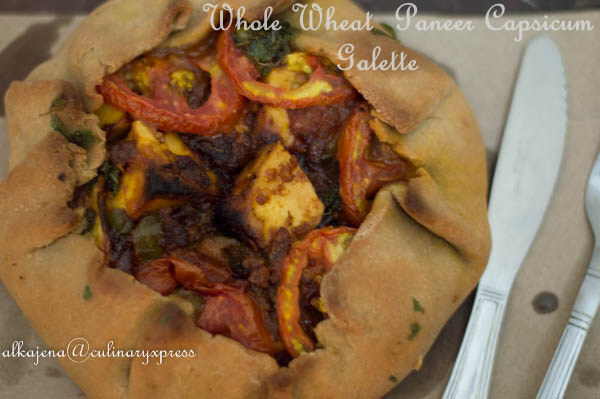 Whole Wheat Paneer Capsicum Galette
