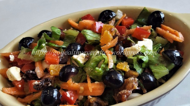 Quick and easy rainbow salad