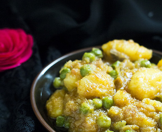 Aloo Matar Curry recipe, Potato Peas Curry