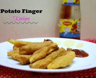 Potato Finger Kurkure Recipe | How to make Potato Finger Kurkure