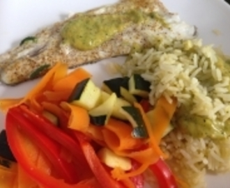 FILET DE BAR SAUCE AUX COURGETTES THERMOMIX
