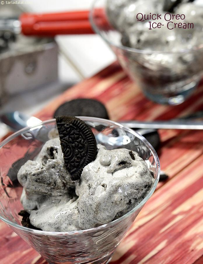 Quick Oreo Ice- Cream, Oreo Vanilla Ice Cream Recipe