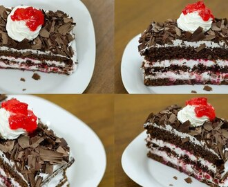 BLACK FOREST PASTRY RECIPE I EGGLESS & WITHOUT OVEN