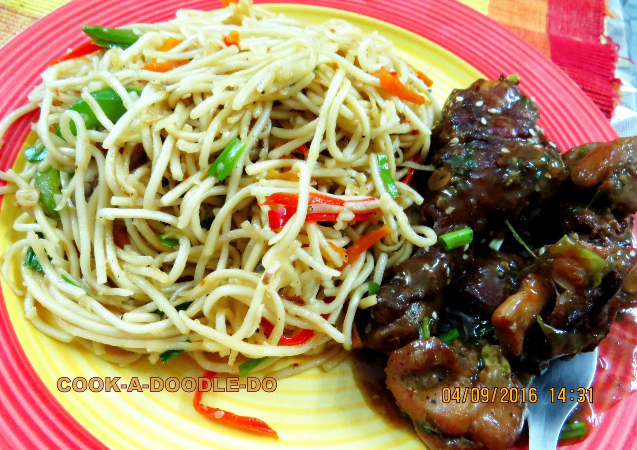 Chili Chicken & Vegetable Chowmein