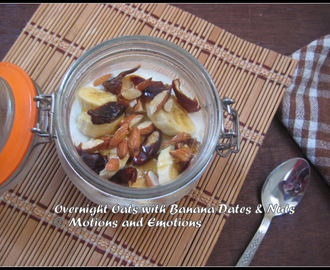 Overnight Oats with Banana Dates and Nuts