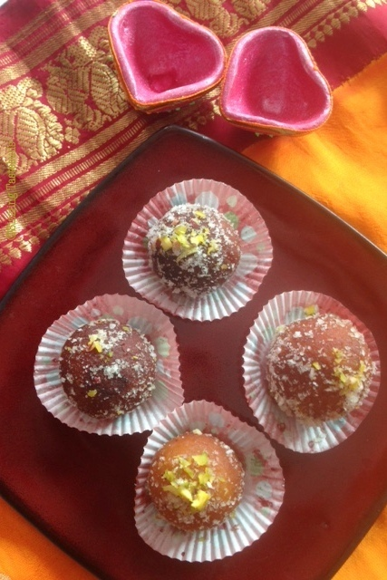 Stuffed Dry Jamun | Sukha Gulab Jamun recipe | How to make Dry Jamun from scratch | Festival recipes