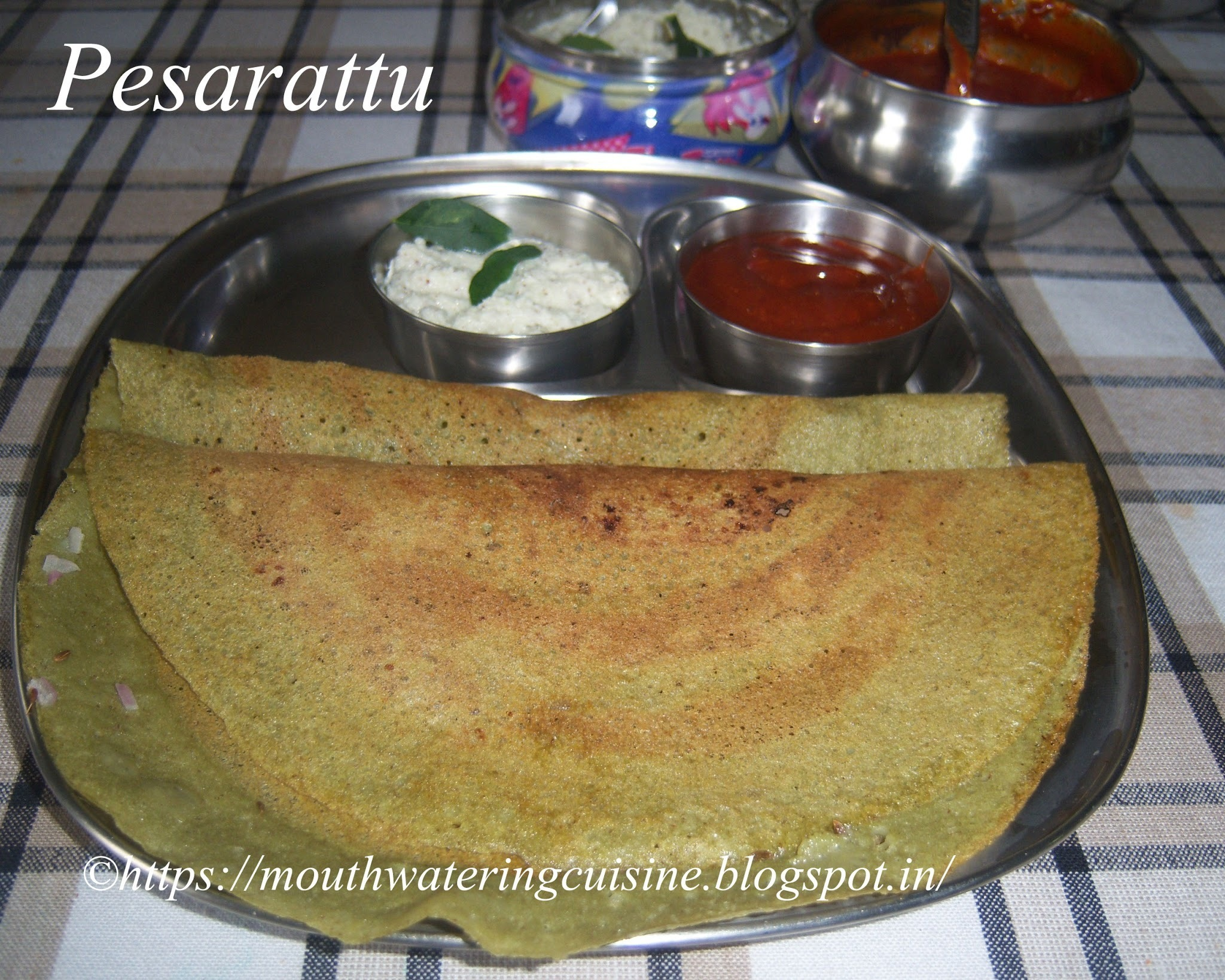 Pesarattu Recipe -- How to make Dosa with Green Gram Recipe -- Andhra Style Pesarattu Recipe -- Mung Bean Dosa