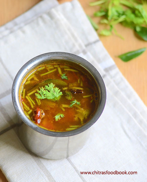 Tomato Rasam Recipe–Kerala Style Thakkali Rasam Without Rasam Powder