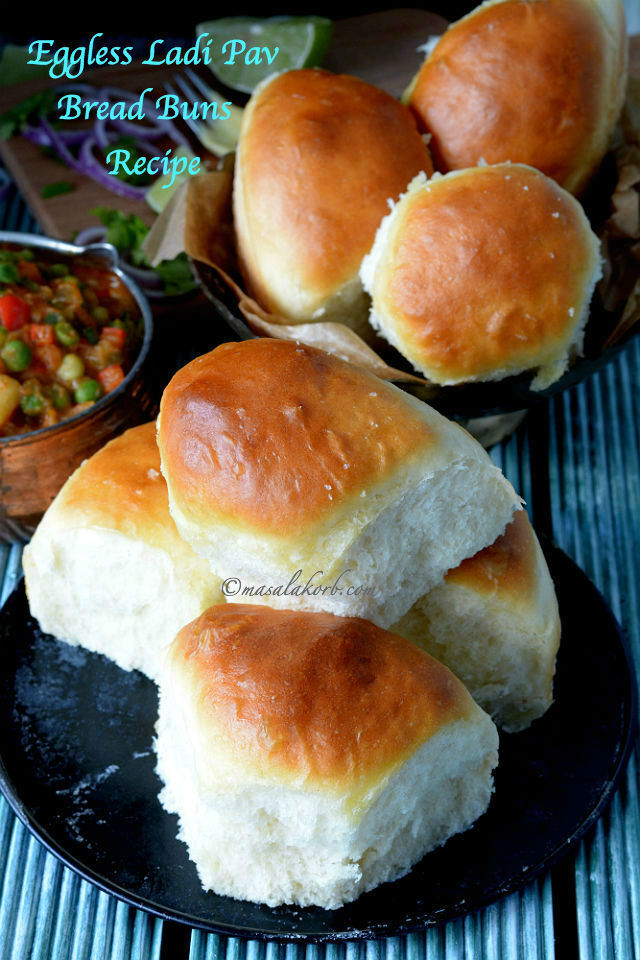 Eggless Ladi Pav Bread Buns Recipe | Mumbai Pav Recipe | How to make soft bun bread at home | Eggless Dinner Rolls Recipe