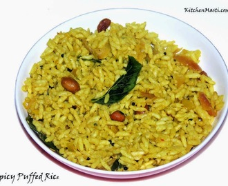 Spicy Masala Puffed Rice Recipe