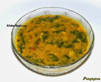Andhra Style Palak Pappu (Spinach Pappu Recipe )