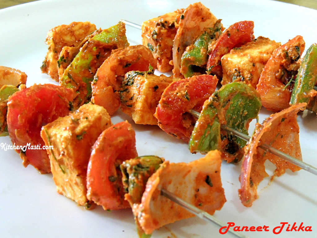 Paneer Tikka Recipe ( Cottage Cheese Snack )