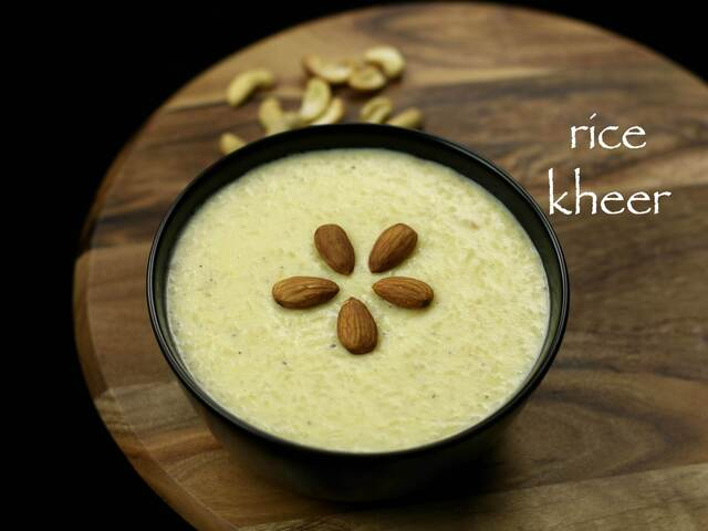 rice kheer recipe | rice payasam recipe | paal payasam recipe