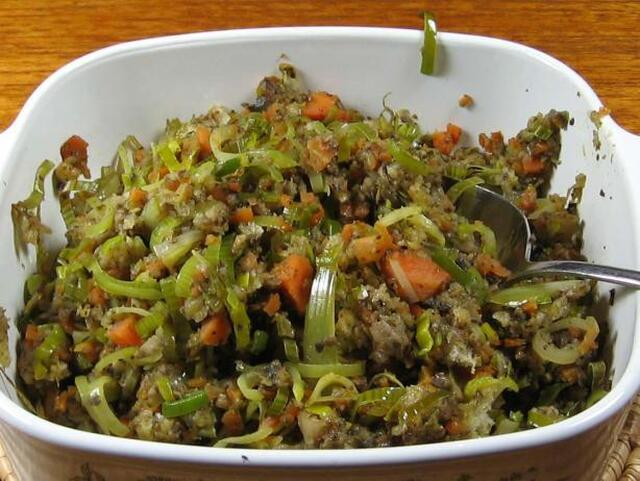 Vegetable Stuffing for Cornish Game Hens