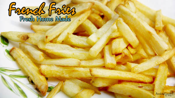 French Fries | How to Make Perfect Crispy French Fries at Home | McDonalds Style French Fries at Home