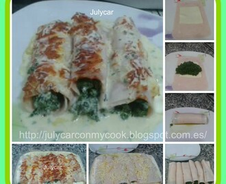 Canelones de espinacas y queso light