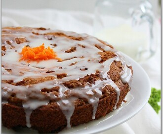 Carrot Cake With Walnuts. (Butterless Sugarless)