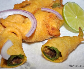 Stuffed chili bajji - easily one of the best from south Indian street food