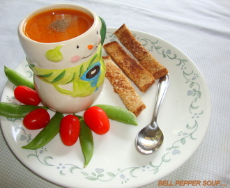 Red Bell Pepper Soup Recipe / Bell Pepper Soup Recipe