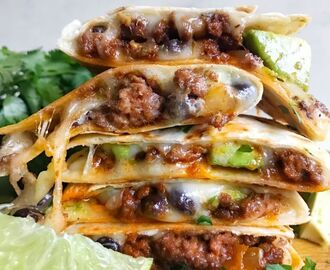 Cheesy Beef Quesadillas
