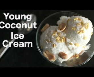 Young Coconut Ice Cream Recipe ไอติมกะทิ - Hot Thai Kitchen