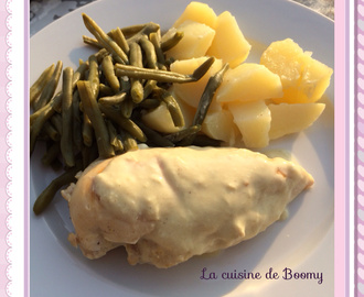 Escalopes de poulet sauce moutarde WW