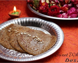 Sweet Wheat Dosa Using Brown Sugar
