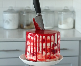 Red Velvet Cake with Almond Cream Cheese Frosting