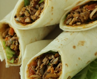Curried chicken tortilla wraps / Chicken tortilla wraps