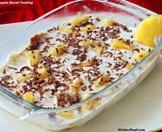 Pineapple Biscuit Pudding Recipe ( Fireless Cooking )
