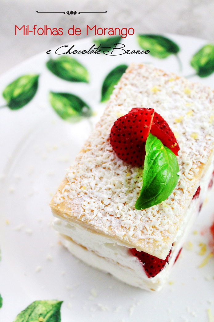 Mil-folhas de Morango e Chocolate Branco | Strawberry Millefeuille with White Chocolate