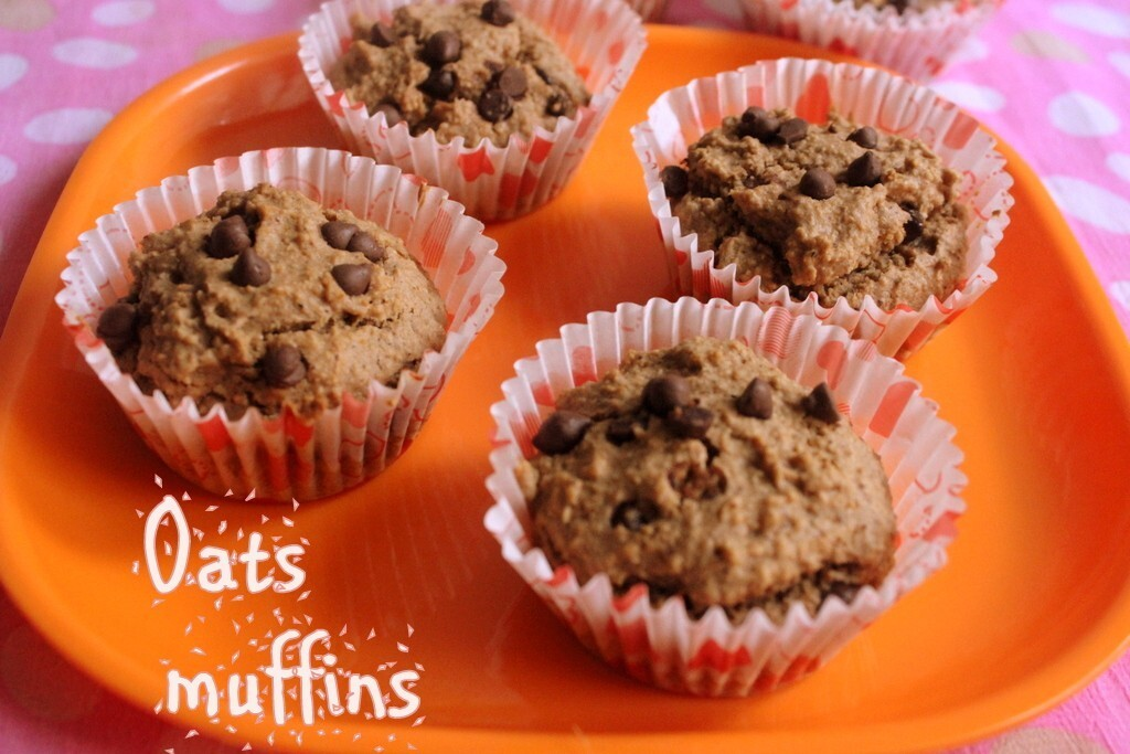 Oats muffins recipe – How to make eggless oats muffins recipe – Healthy recipes
