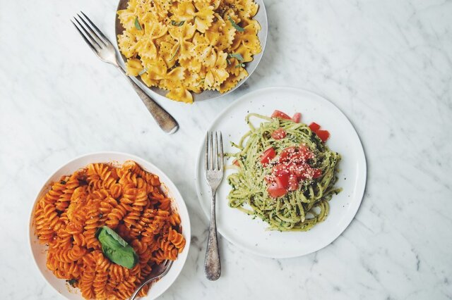 easy vegan pasta sauces →