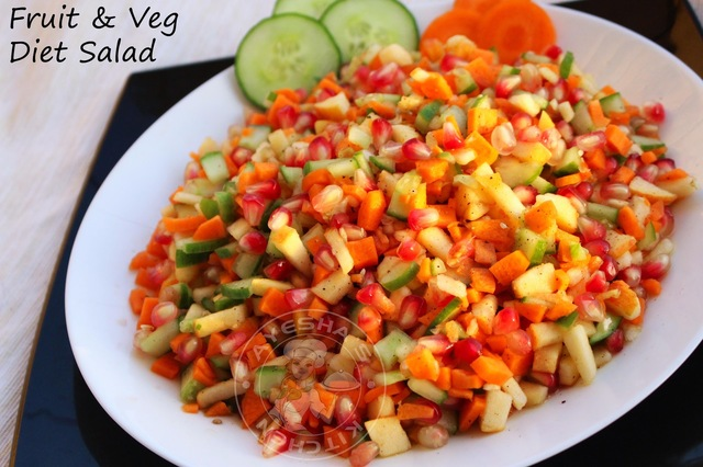 SIMPLE SALAD RECIPES - FRUIT AND VEGETABLE SALAD RECIPE / QUICK SALAD / DIET SALAD