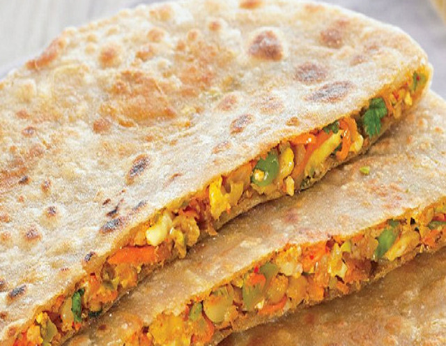 Mix Vegetable Stuffed Paratha recipe- Breakfast Recipes