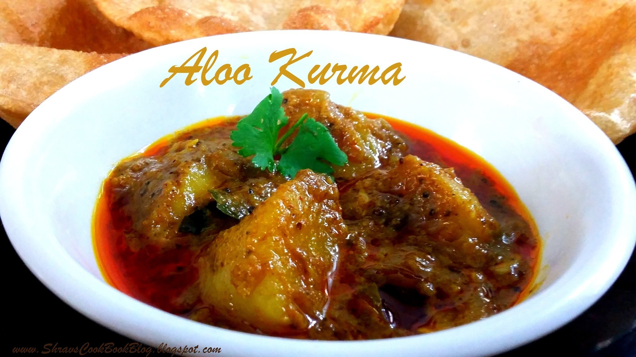 Potato Kurma for Poori and Chapathi - Aloo Curry Andhra style - Aloo Kurma recipe
