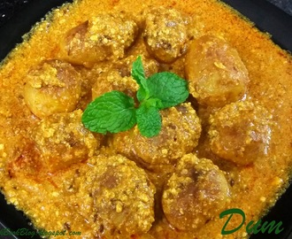 How to make Dum aloo gravy recipe with Baby Potatoes - Shahi Dum Aloo