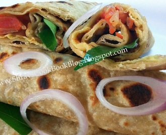 Egg frankie recipe, Indian chapathi egg roll - egg kathi roll recipe - egg wrap