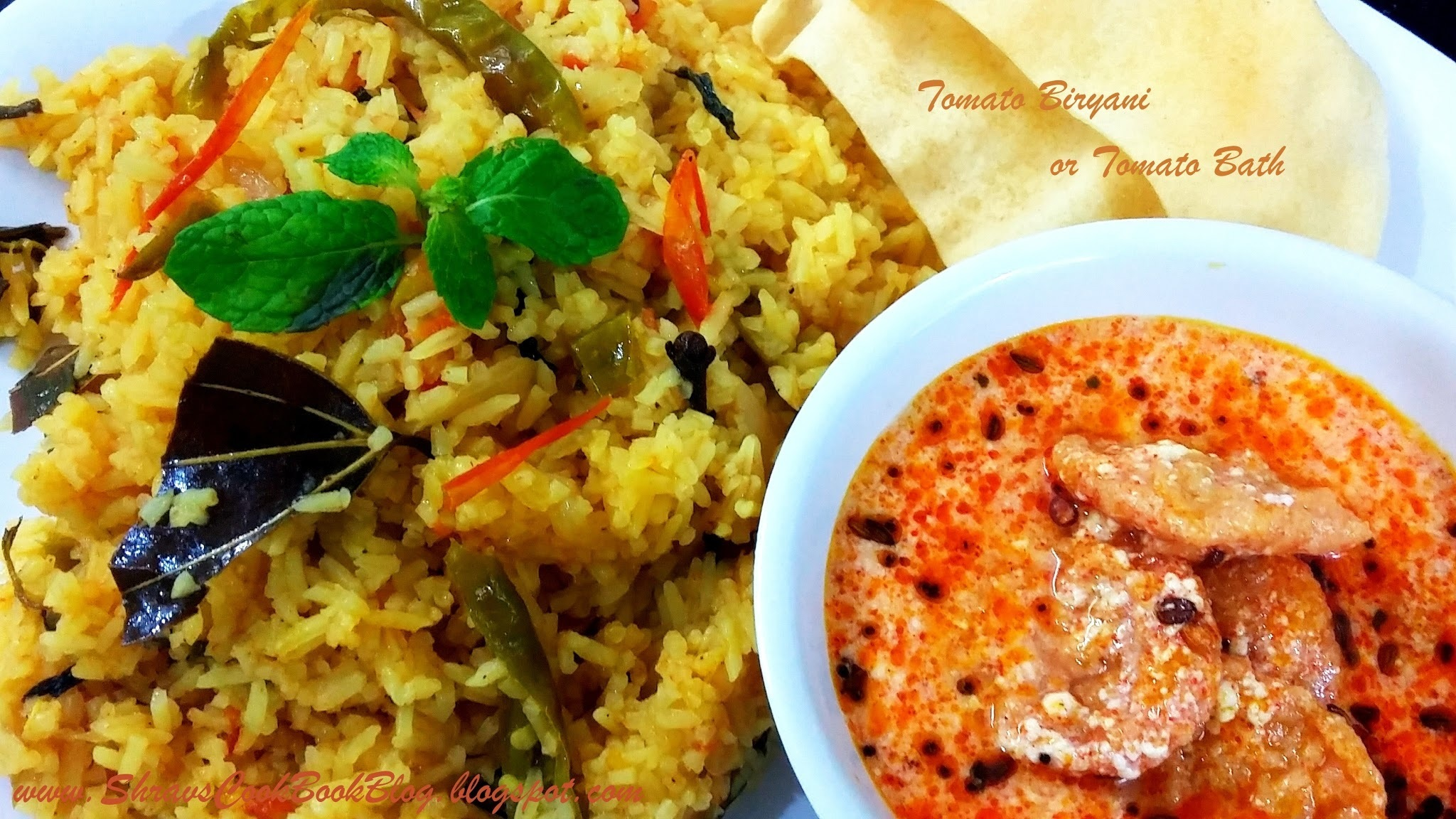 Tomato Biryani - How to make Tomato Rice Biryani
