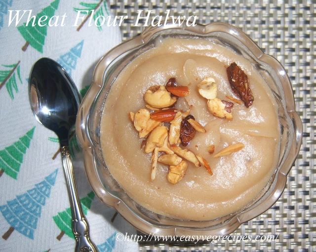 Wheat Flour Halwa Recipe -- How to make Wheat Flour Halwa Recipe