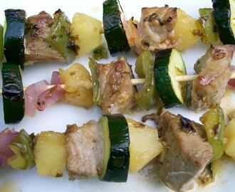 The Houdini's Magical Tuna Kabobs With Pineapple Glaze