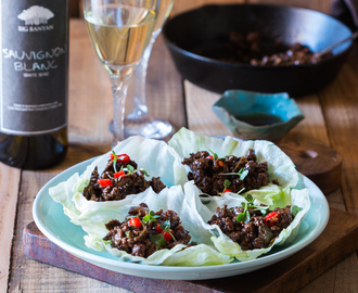 Stir Fried Black Bean Chicken Lettuce Cups