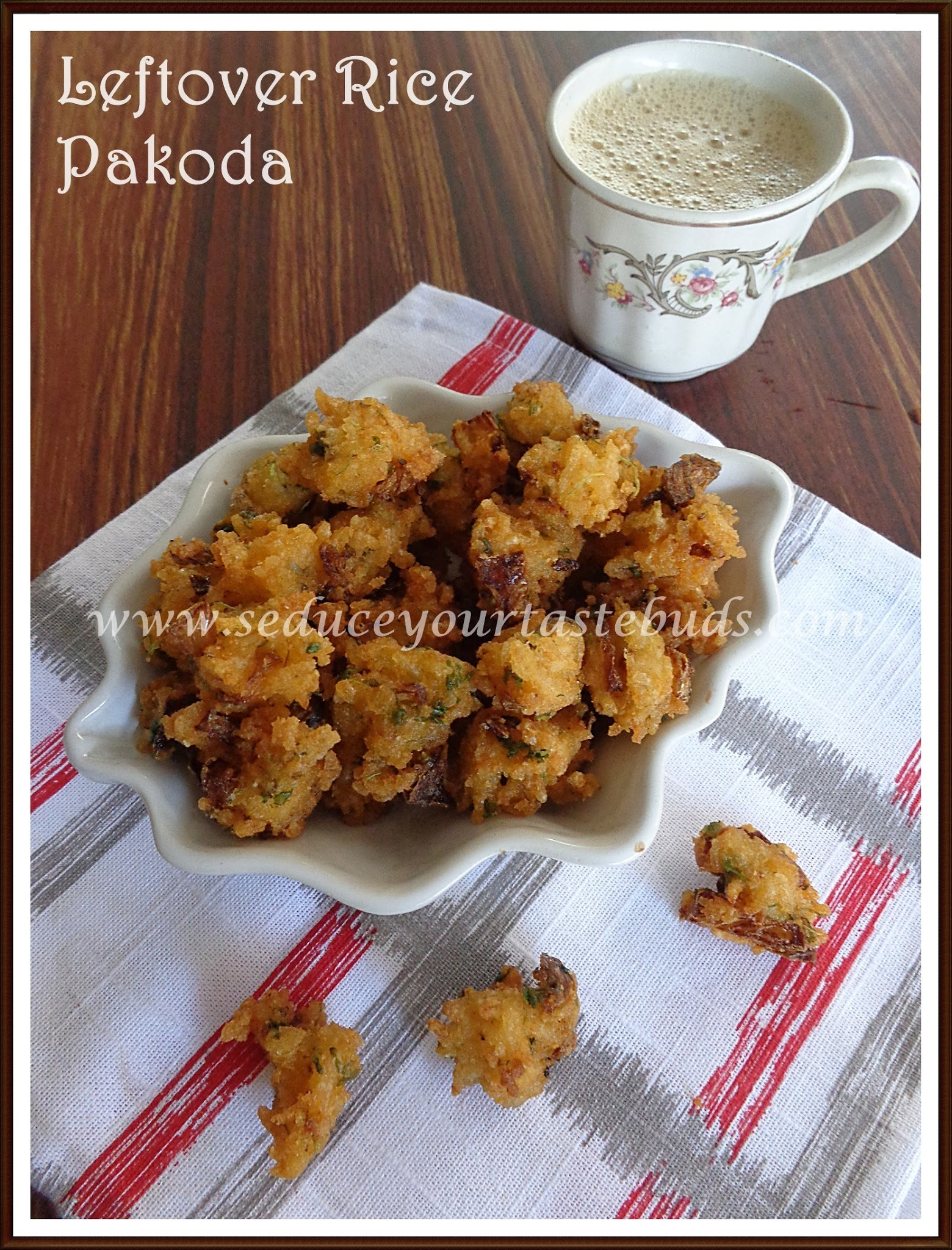 Rice Pakoda | Recipes with Leftover Rice